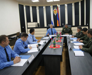 Working meeting of Armenian and Russian border guards