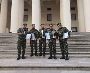 Servicemen of orchestra of Border Guard Troops won second place at the army song festival