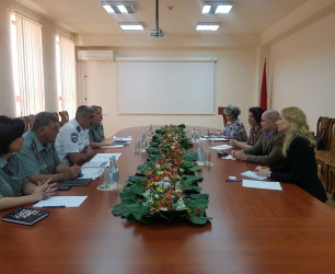 Commander of Border Guard Troops of the NSS of the RA has received the Head of the OSCE Border Security and Management Unit