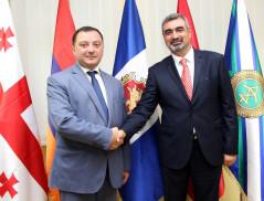 Визит делегации пограничных войск СНБ РА в Пограничную полицию МВД Грузии