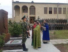 Խաչքար-հուշարձանի օրհնության արարողություն Սահմանապահ զորքերում
