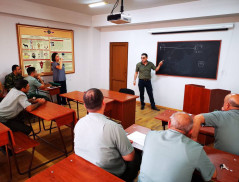 Training for the staff of cynology center of Border Guard Troops of the RA NSS