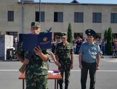 Церемония присяги новобранцев, призванных  в Пограничные войска