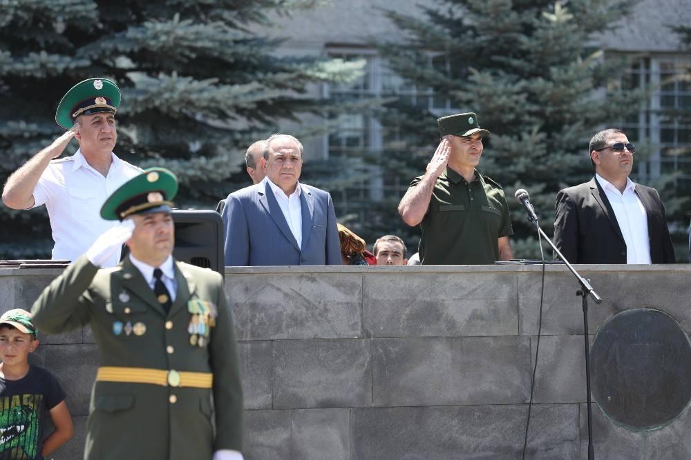 Торжественная церемония принятия новобранцами Военной присяги в Пограничных войсках СНБ РА (видеоматериал, фотографии)